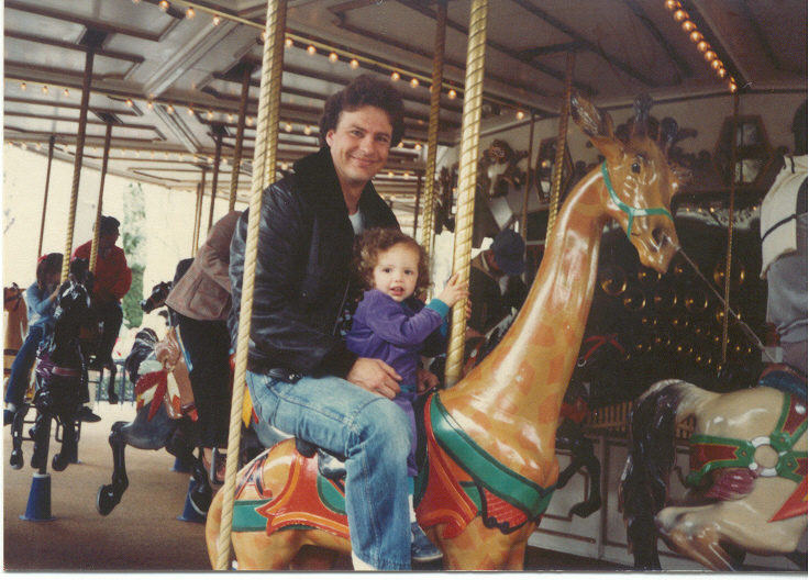 1.5 yr & Dad on Merry Go Round
