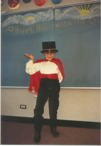 8 yr old Polly - Halloween